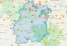Carte interactive des tiers lieux en Essonne
