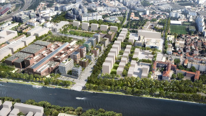 Vue aérienne de la ZAC Village olympique