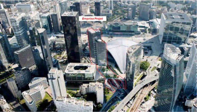 Tour Trinity La Défense emprise projet