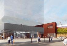 Parvis de la future gare Arcueil-Cachan du Grand Paris Express.