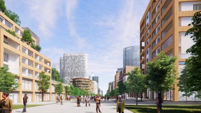 Le Chemin, concept Groupama Immobilier pour La Défense, projet Christian de Portzamparc