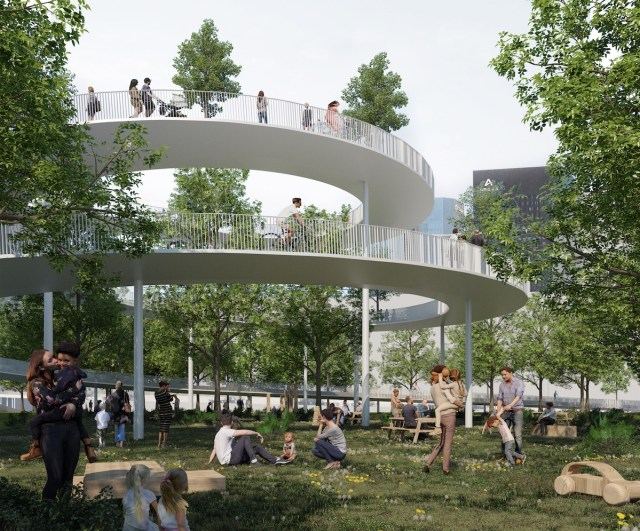 Le Chemin, concept Groupama Immobilier pour La Défense, projet Maud Caubet