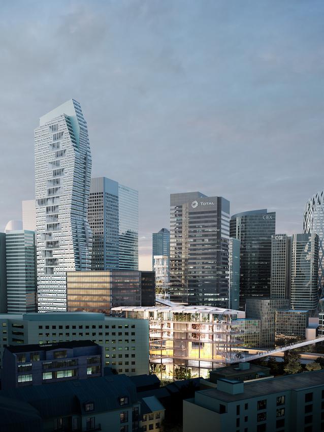 Le Chemin, concept Groupama Immobilier pour La Défense, projet ChartierDalix