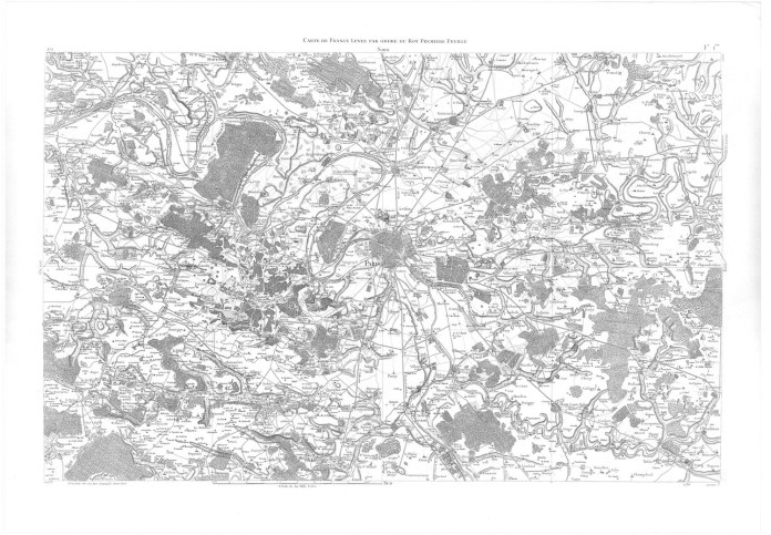 Carte Cassini Ile de France 1740