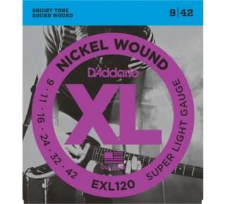 DAddario EXL120 El. gitar strenger (009-042)