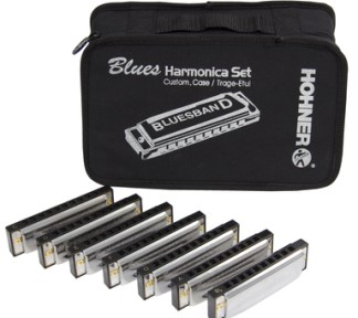 Hohner - Blues Band Harm. Sett (C,D,E,F,G,A,H+Bag)