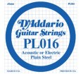 D'Addario - PL016, Single plain steel string
