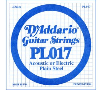 D'Addario - PL017, Single plain steel string