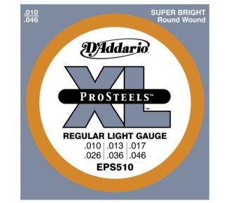 D'Addario - EPS510 El. gitar(Stainless, 010-046)