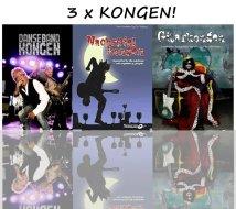 "Gitarbok pakke ""3 x Kongen"""