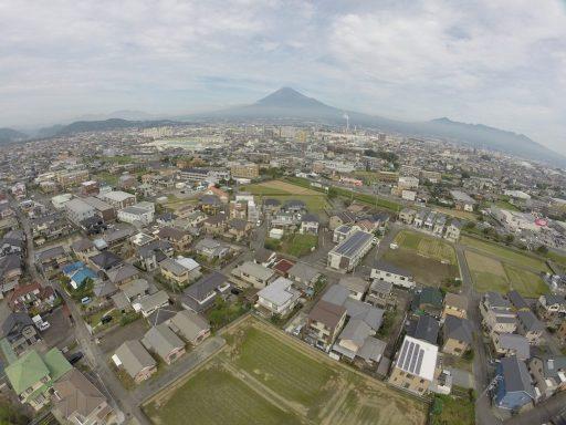 富士市森島上空から富士山