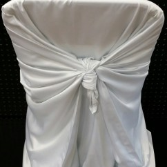 White Universal Chair Covers Walnut Eames Cover Giuffra S Party Rentals Quantity