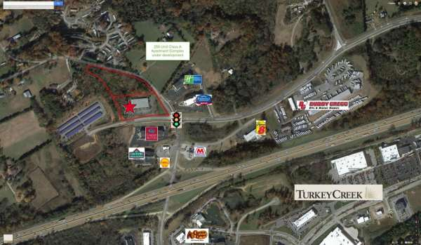 Prime location near Turkey Creek Shopping Center, has a Hard Corner and great visibility.