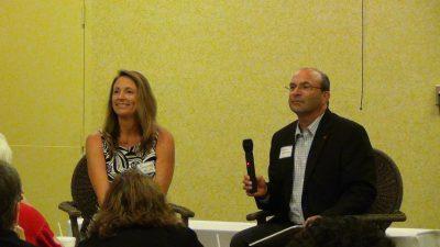 Solange Velas and Steve Goldman at Knoxville Real Estate Investors meeting