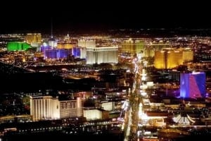 The Las Vegas Strip lights up the night with it's casinos and resorts in this April 19, 2001 file photo. (AP Photo/Matt York, File)