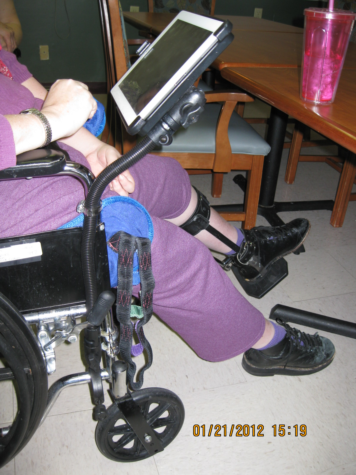 ipad stand for chair revolving parts wheelchair gps and mount photos articles