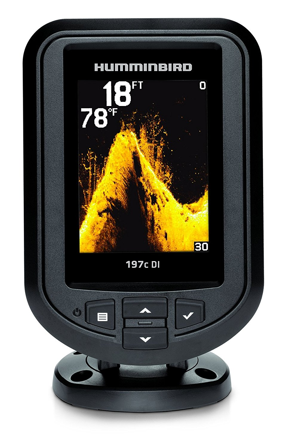 Humminbird 409690-1 PiranhaMax 197C DI Color Fish Finder with Down Imaging (Grey)