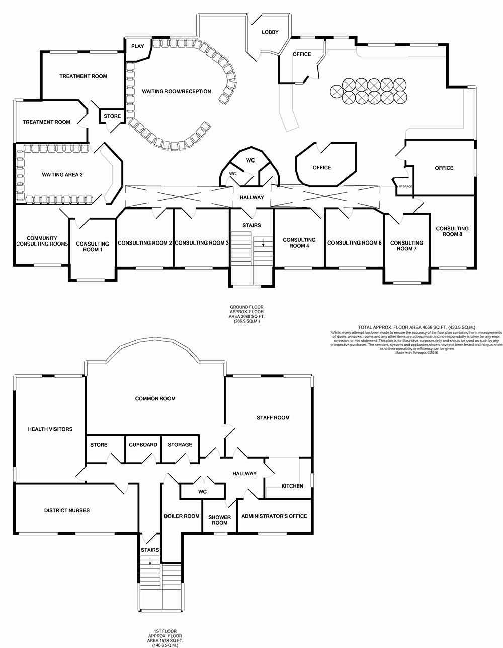 Springwell Medical Centre Floorplan - GP Surveyors