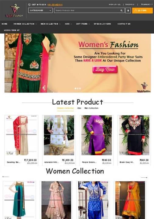 Online Fashion Store Website