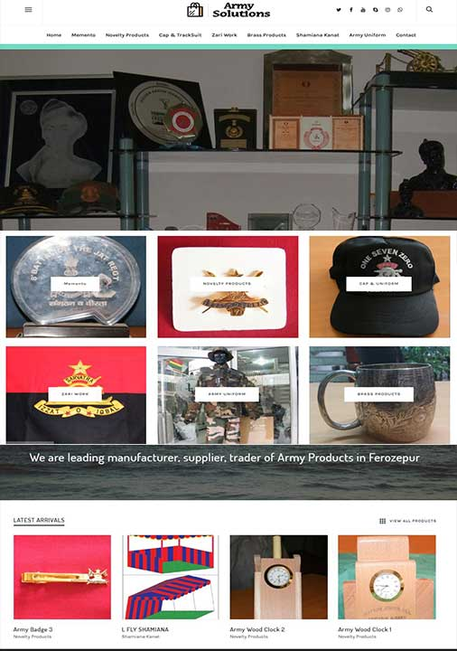 Army Store Website