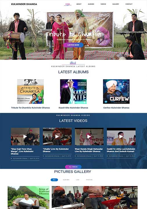 Punjabi Singer Website
