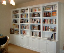 White Library Bookcases