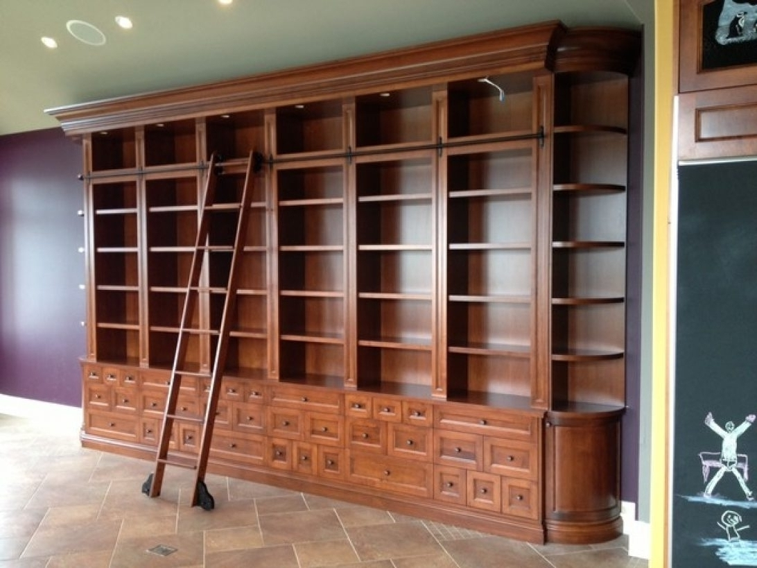 Top 15 Of Bookcases With Ladder