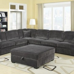 Gray Sofa With Chaise Lounge Large Leather Sleeper Charcoal Sectional Home The