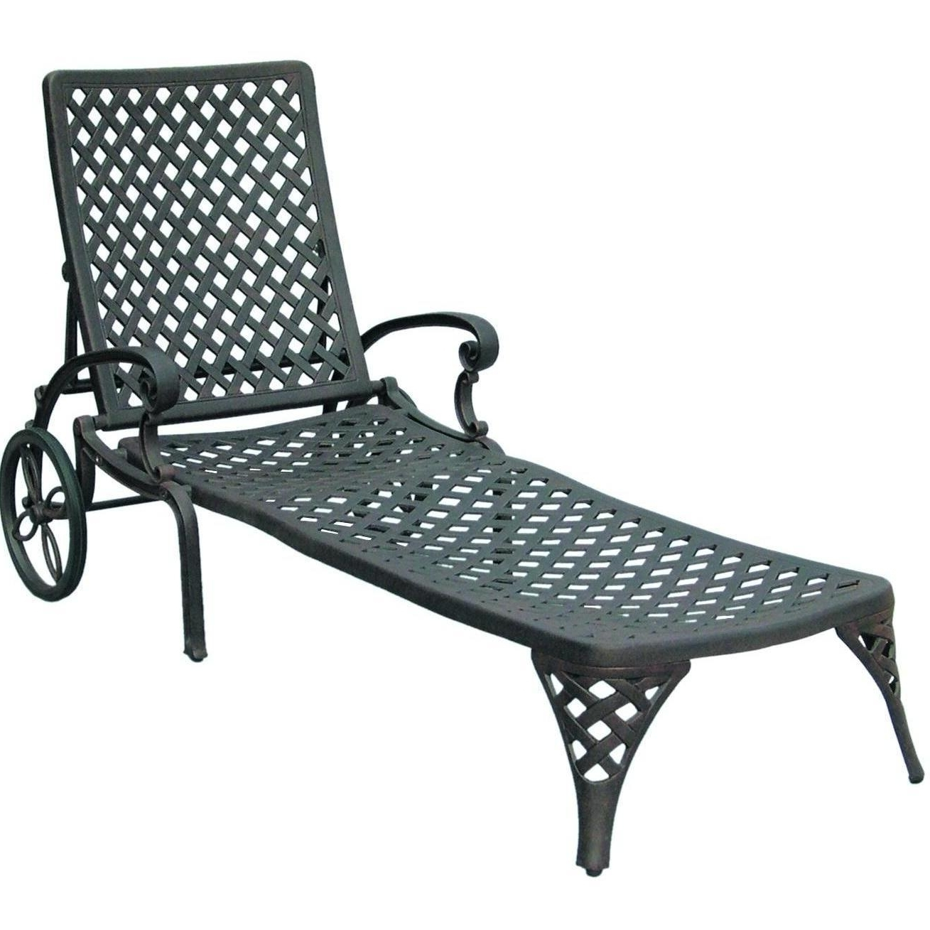 15 Best Wrought Iron Outdoor Chaise Lounge Chairs