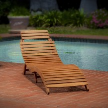 Collection Of Wood Chaise Lounge Chairs
