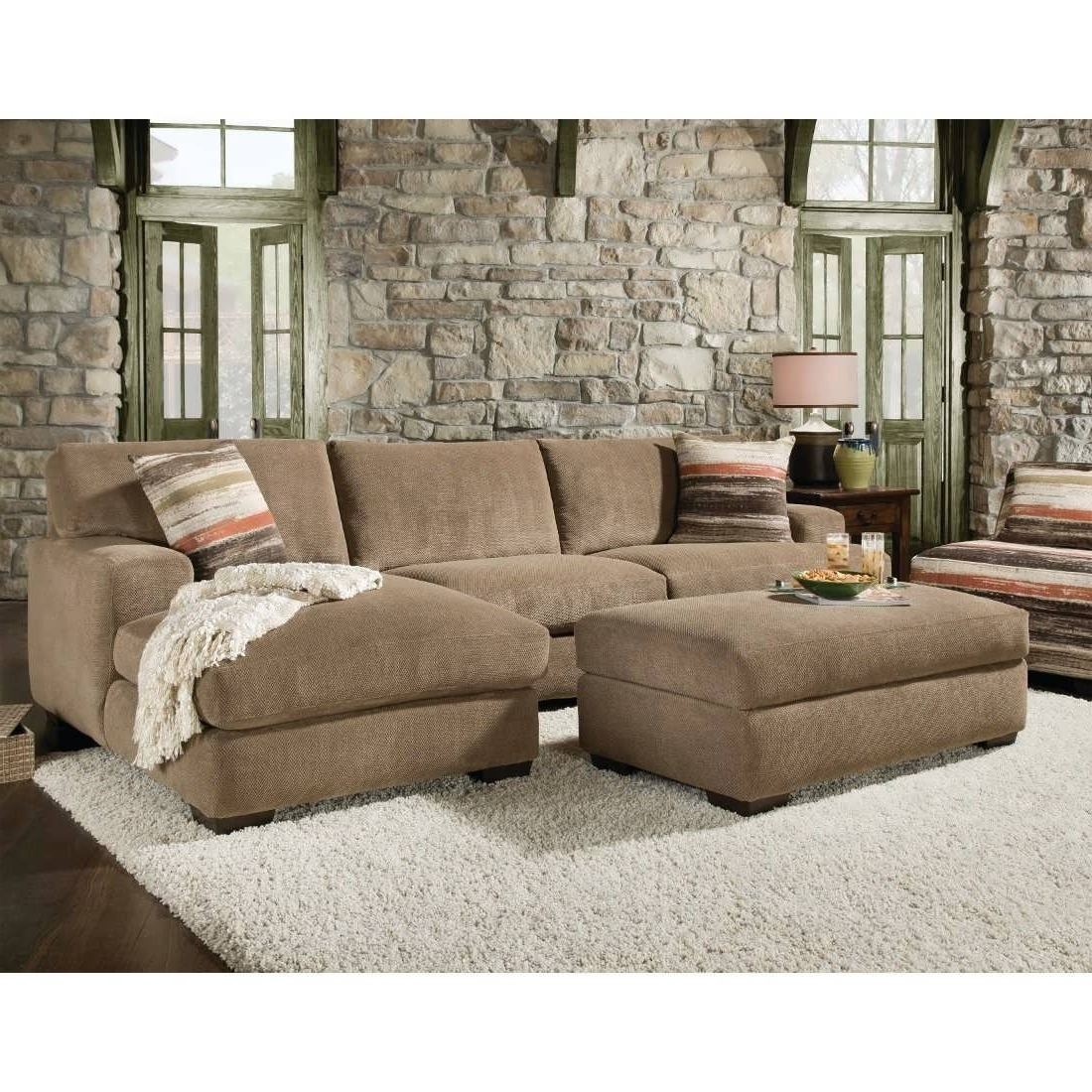 beige microfiber sectional sofa with storage chaise king jokes like 15 photos sofas