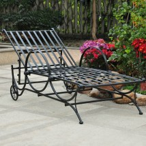 Wrought Iron Outdoor Chaise Lounge Chairs