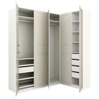 15 Ideas of White Corner Wardrobes Units