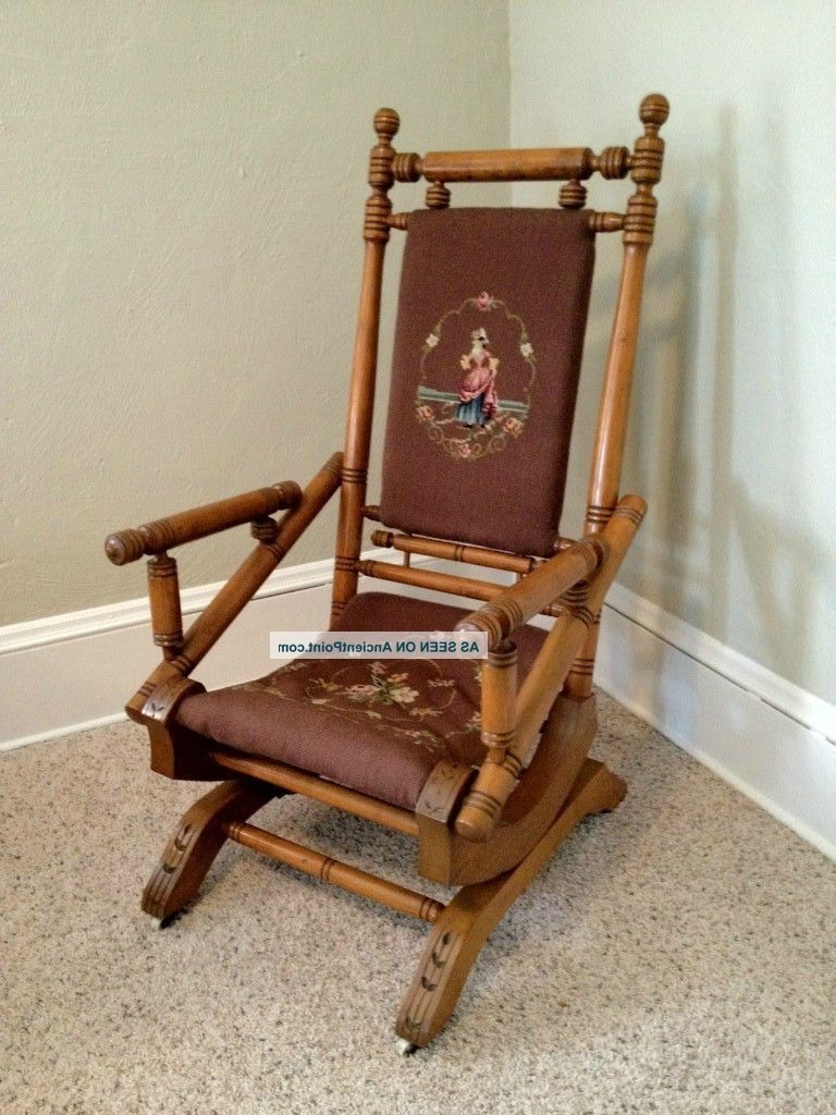 antique platform rocking chair with springs oak table and pressed back chairs explore gallery of wicker in fashionable 14