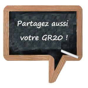 Partagez aussi votre GR20