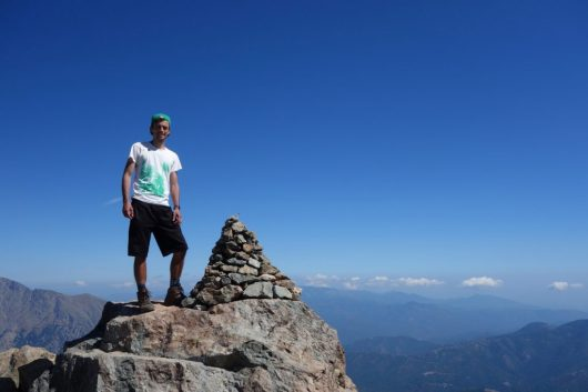 Dylan - on the summit of Monte d'Oro - GR20