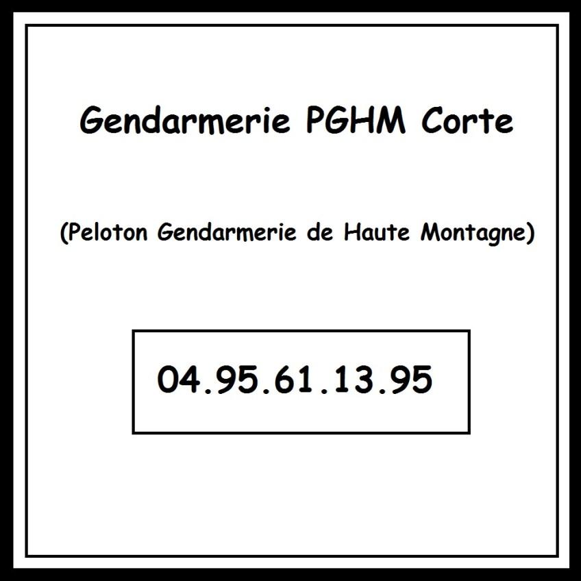Gendarmerie PGHM Corte Corse GR20