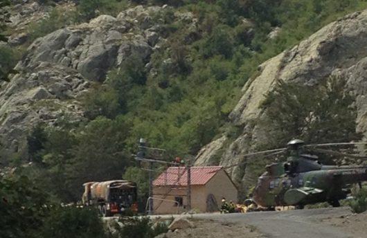 L'armée à U-Renosu - Incendie en cours