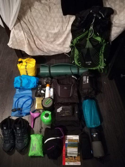 Détail du sac à dos pour le GR20