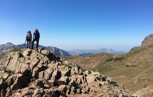 Mit meinen Weggefährten kurz vor der Hütte Ciottulu di i Mori