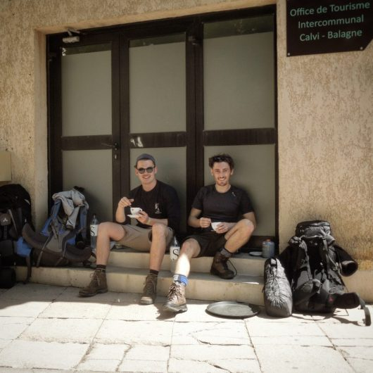 One of our last coffee before tackling the GR20 in Calvi