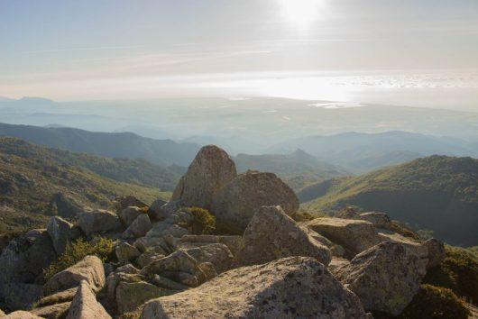 Vue mer depuis la montagne Corse
