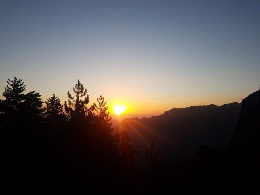 GR20 - Levé de soleil