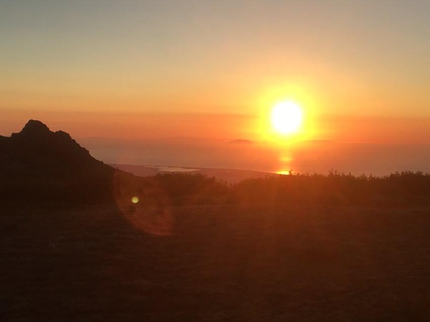 Sunrise in Corsica - GR20 - Sea view