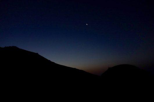 Nacht in den korsischen Bergen