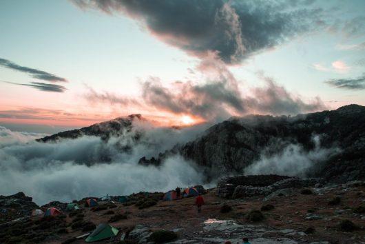 Bivouac au dessus des nuages - GR20