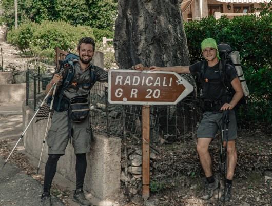 Titouan et Lucas sur le GR20