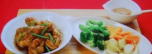 【バイキング】モリクミの時短!簡単!節約レシピ!鶏手羽元の照り煮&温野菜