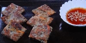 【スッキリ】コウケンテツのレシピ!茶がらと根菜のチヂミ!捨てる食材で