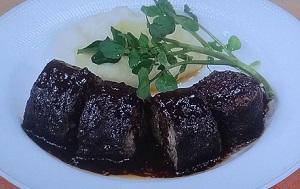 牛肉巻きの赤ワイン煮